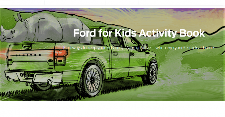Ford Activity Pages