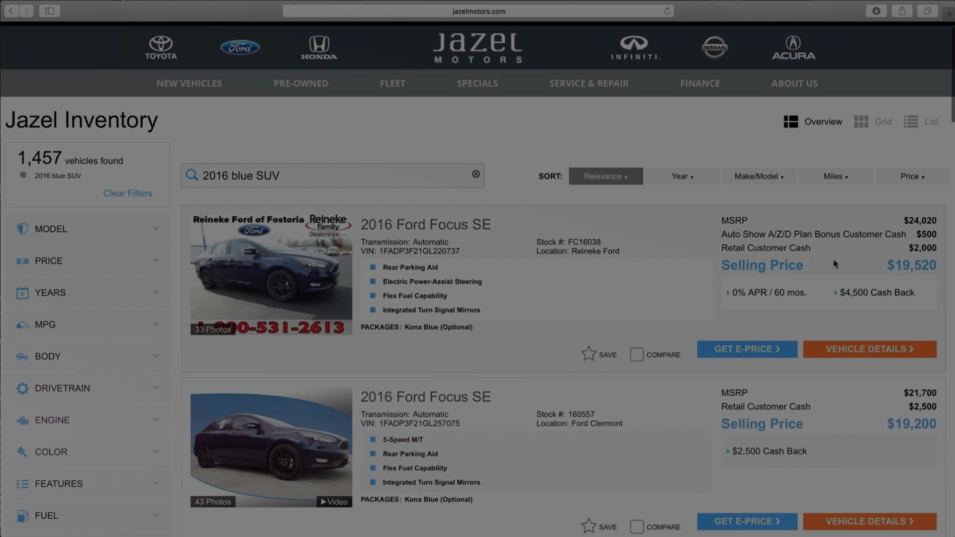 JAZEL AUTO - Responsive Automotive Websites, Car Dealer Website ...